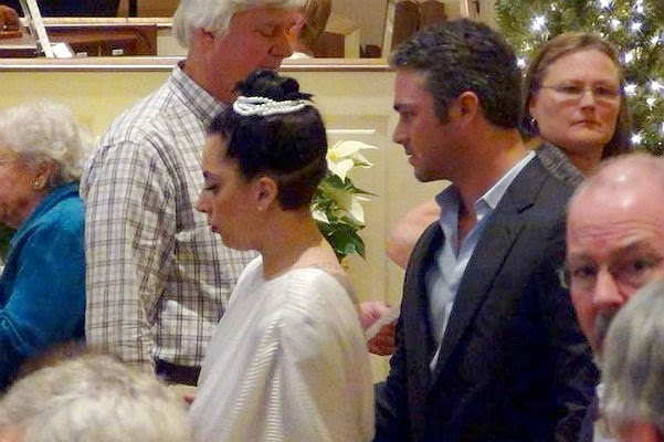 Lady Gaga and Taylor Kinney attended the church service