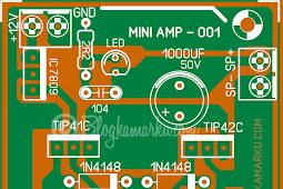 Mini amplifier yang sangat mudah untuk di buat