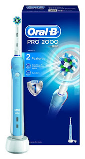 Today Offer Oral-B Pro 2000 CrossAction Electric Rechargeable Toothbrush Braun £29.99