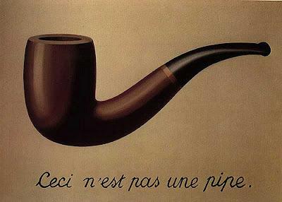 To nie jest fajka (podpis pod podobizną fajki), obraz autorstwa René Magritte'a