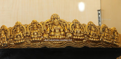 nakshi work gold vaddanam