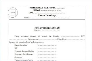 Download Gratis Contoh Surat Mutasi Atau Pindah Pegawai