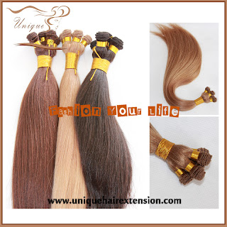 hand tied hair wefts