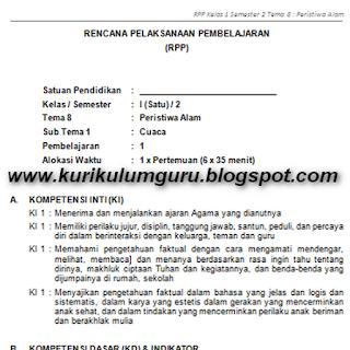 RPP Kurikulum 2013 Untuk Kelas 1, 2, 4, dan 5 SD