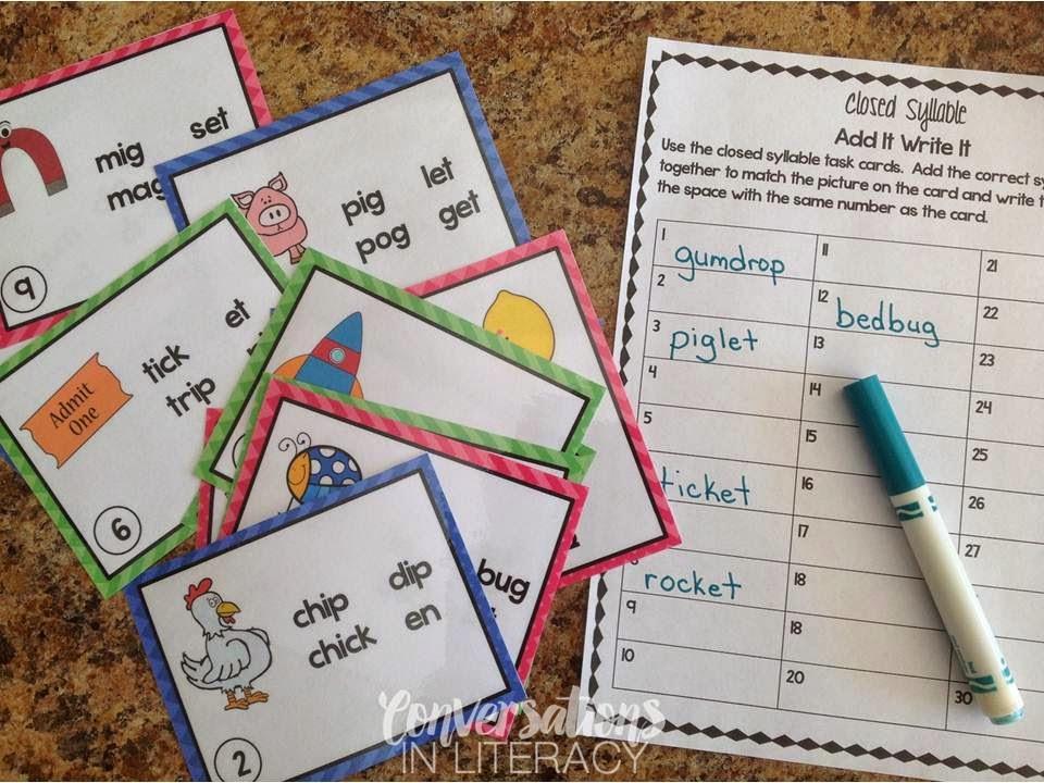 Premise Indicator Words: Short Vowel Activities & RTI Visual Plans