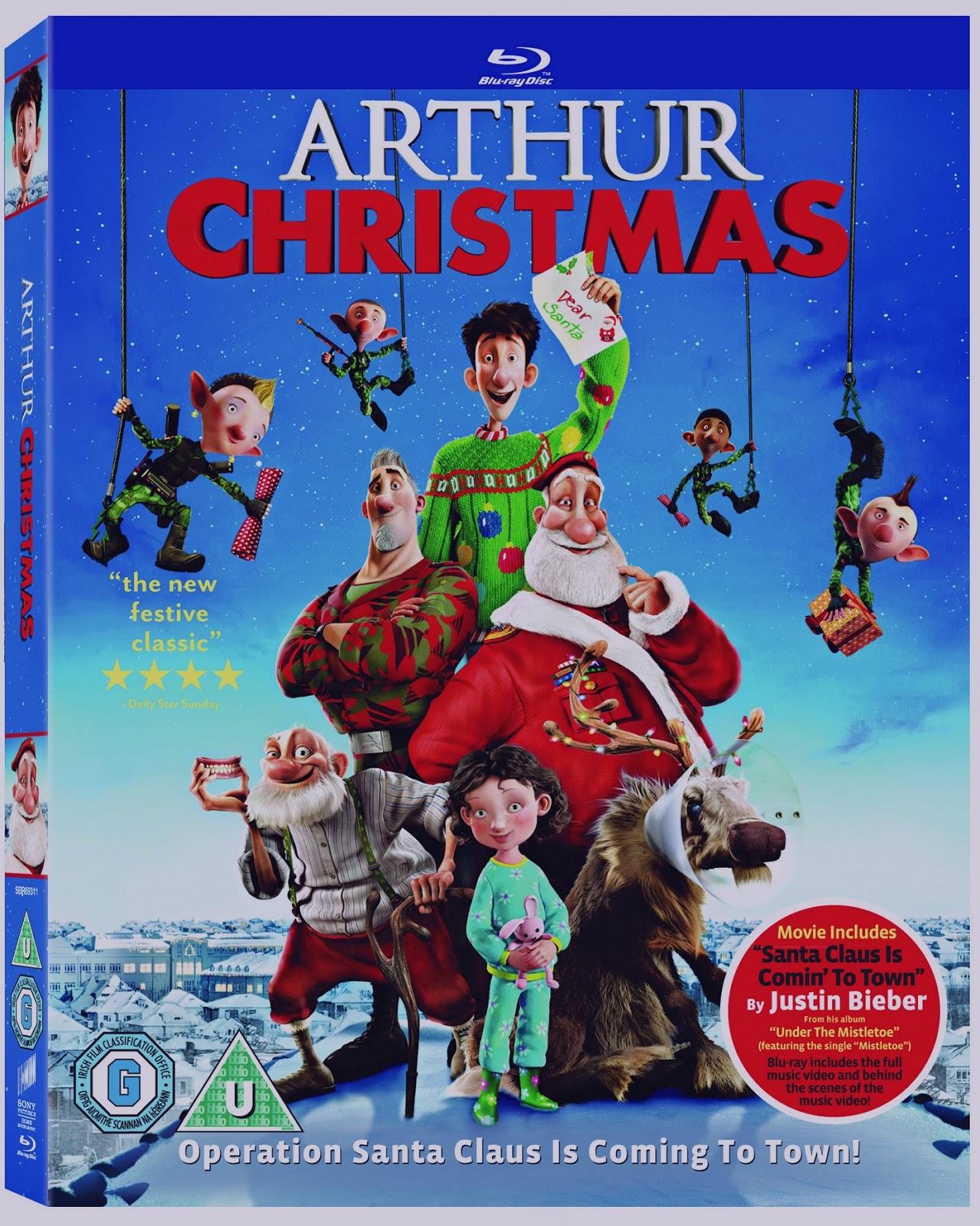 festive film family film - Arthur Christmas Dvd