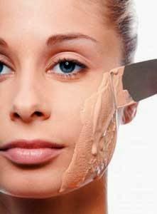 extender demasiado fondo de maquillaje