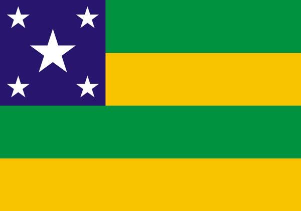 The flag of goiás was created by joaquim bonifácio de siqueira and it symbolizes the state of goiás. Brasil Geofísica: SERGIPE