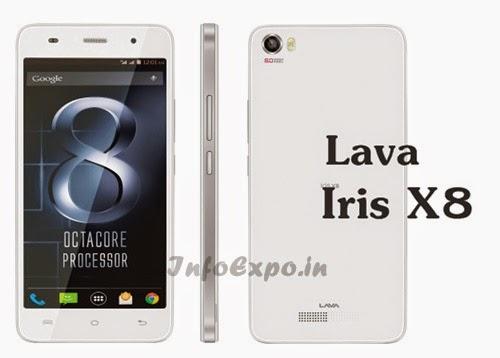 LavaIris X8: 5 inch,1.4 GHz Octacore Android Phone Specs, Price