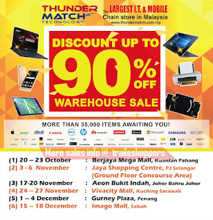 Thundermatch Technology Warehouse Sale 2016