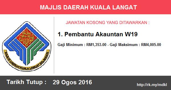 Jawatan Kosong di Majlis Daerah Kuala Langat