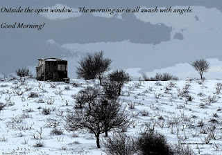 Outside the open window The morning air is all awash with angels. by bülent boz