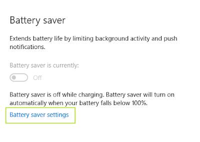 pengaturan baterai pada Windows 10