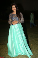 Nikki Galrani in Green Skirt  Top at Marakathamani music launch ~  Exclusive (153).JPG