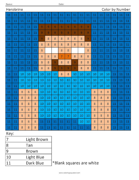 Mc Minecraft Steve Minecraft Color By Number Thumb