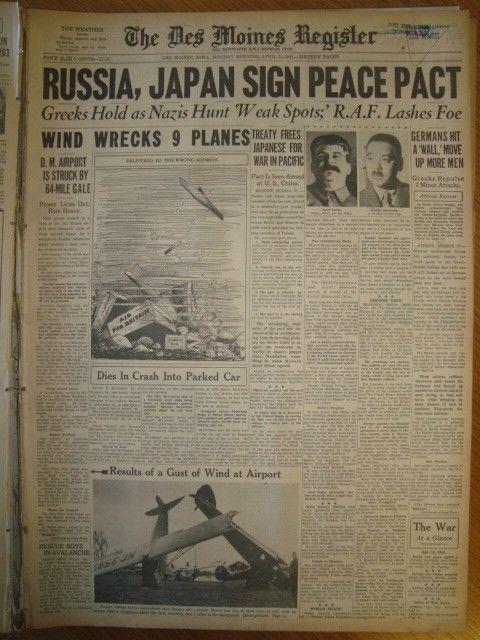 14 April 1941 worldwartwo.filminspector.com Des Moines Register