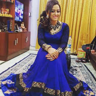 Rupsha Chakraborty Bengali Actress Blue Dress