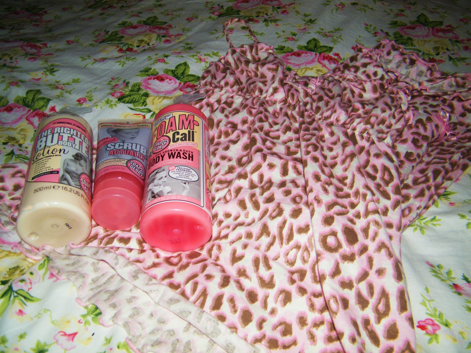 Soap and Glory and Primark Pajamas