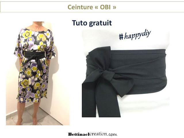 couture facile ceinture large avec lien nouer bettinael passion couture made in france. Black Bedroom Furniture Sets. Home Design Ideas