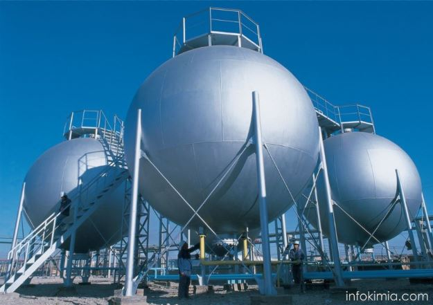 penyimpanan bahan baku gas dalam industri kimia
