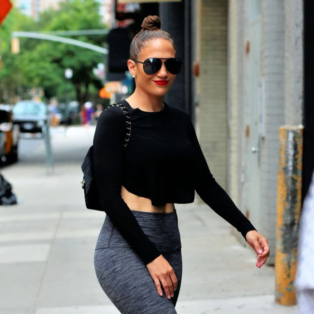 Jennifer Lopez in Tights out in New York City