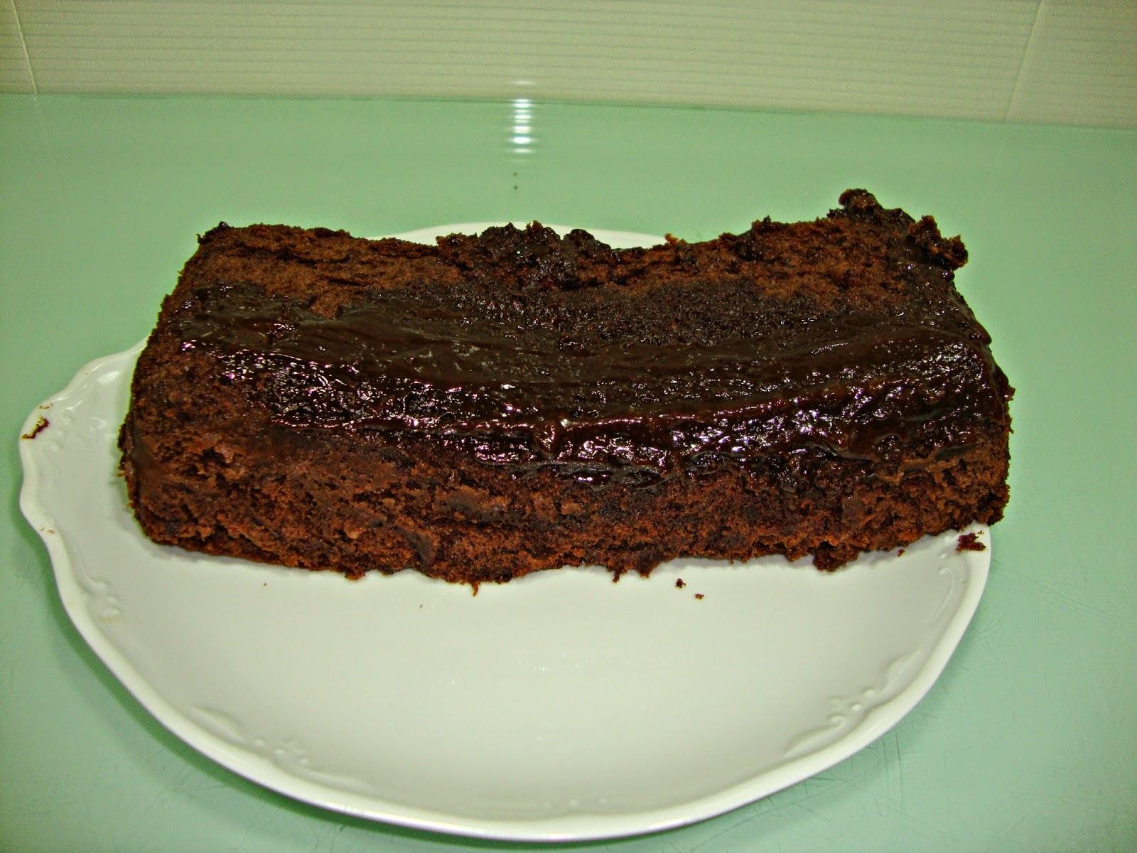 Bizcocho de chocolate en microondas