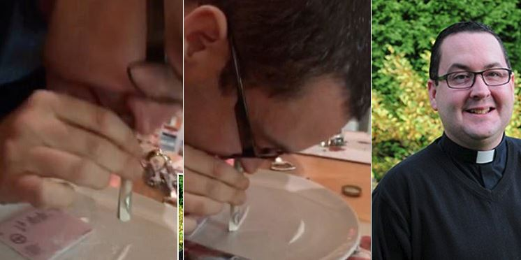 Image result for roman catholic priest filmed snorting cocaine on church grounds