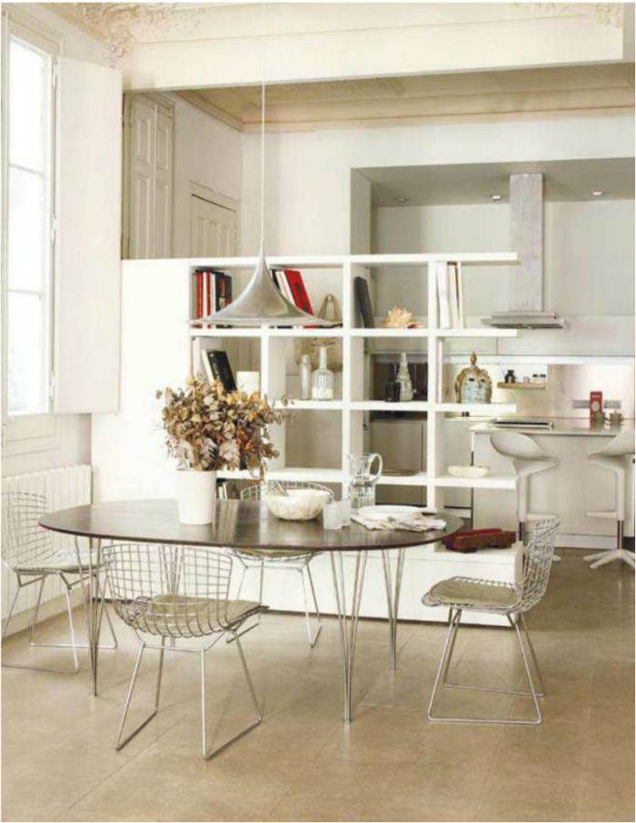 Hogares frescos comedores con encanto esenciales y con - Decorar salones cuadrados ...