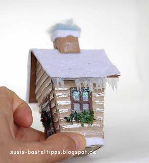 weihnachtliche Blockhütte, haus-verpackung-fur-ferrero-rocher-mit-stampin-up-framelits-zu-hause