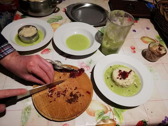 Momento di preparazione del piatto