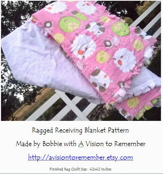 Ragged Receiving Blanket Pattern