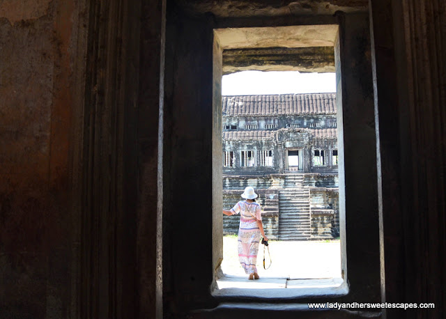 Lady in Angkor Wat