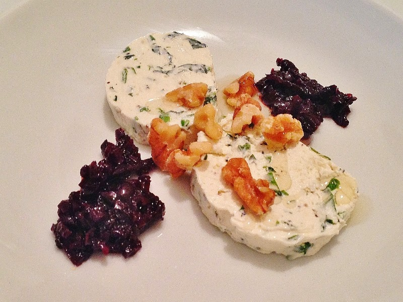 Goat's Cheese Pate with Red Onion Marmalade