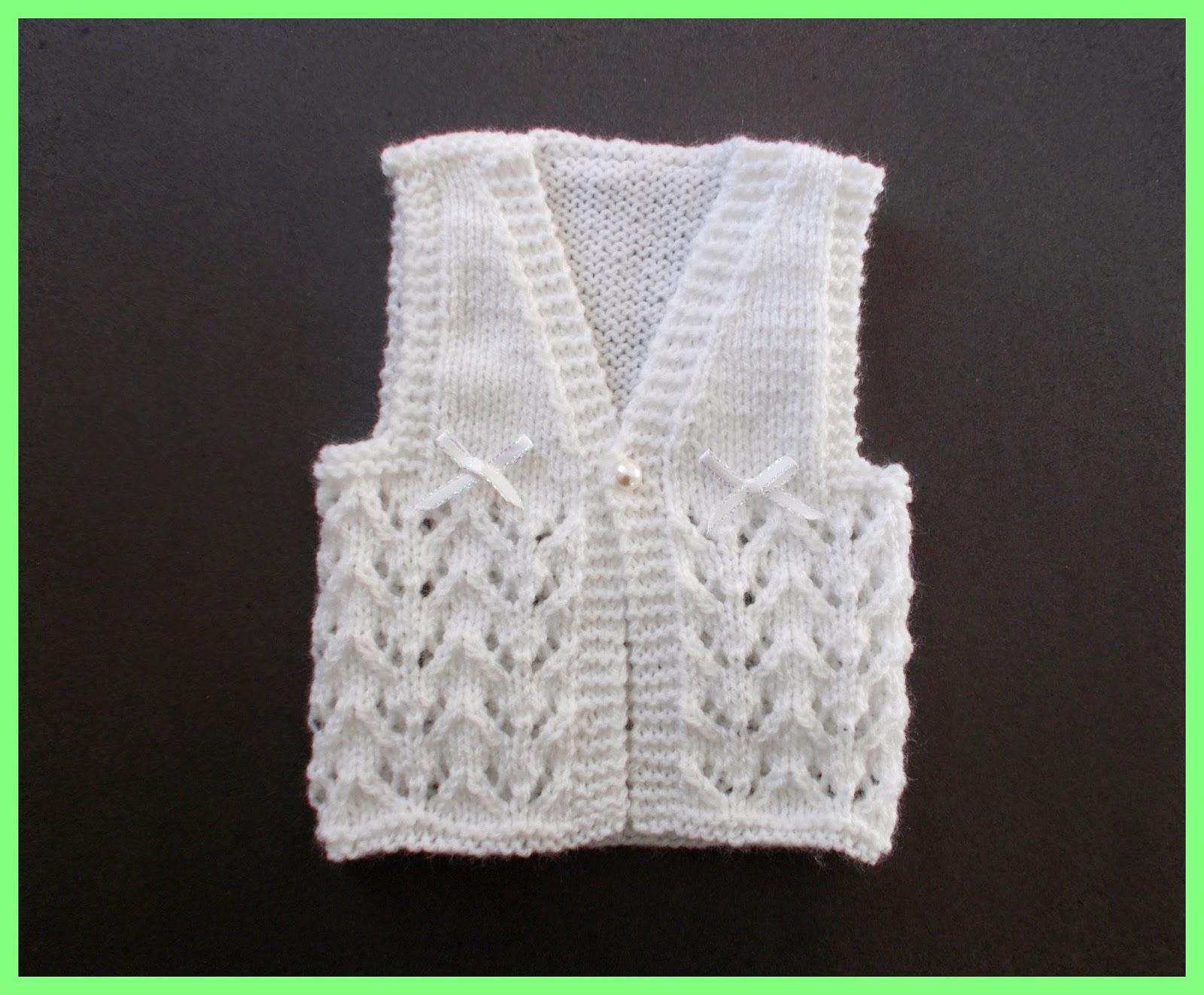 Baby Waistcoat Knitting Pattern : mariannas lazy daisy days: Little Bibi - Baby Gilet / Waistcoat