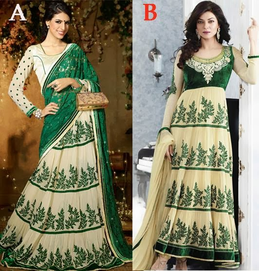 GREEN FASHION SAREE