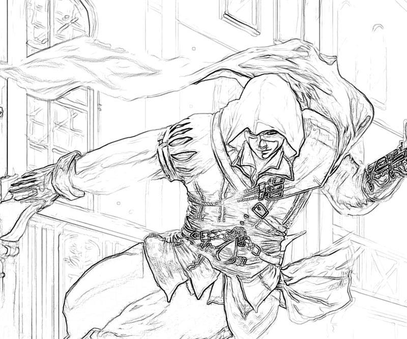 Assassins Creed 4 Edward Coloring Pages Coloring Pages