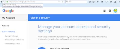 halaman untukmerubah password Google