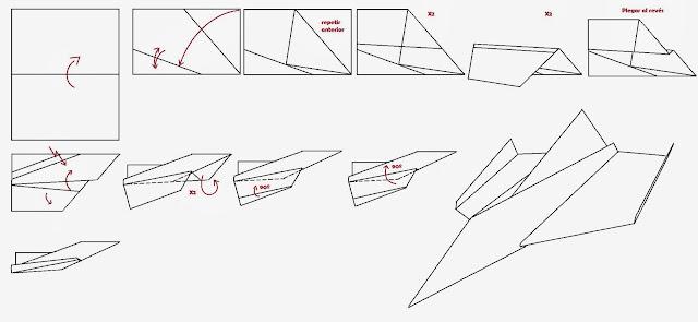 Avión de papel Wing 8