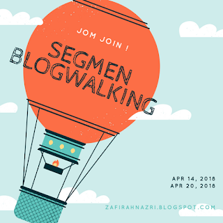 Segmen Bloglist April By Zafirah Nazri, 2018, Blogger Segmen,