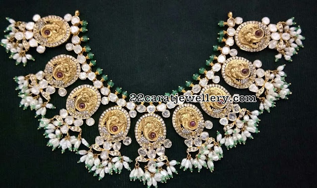 Flat Diamond Necklaces by Balaji Jewellers