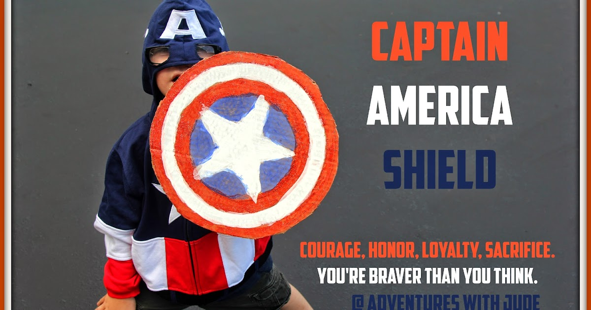 Adventures With Jude Captain America Shield With