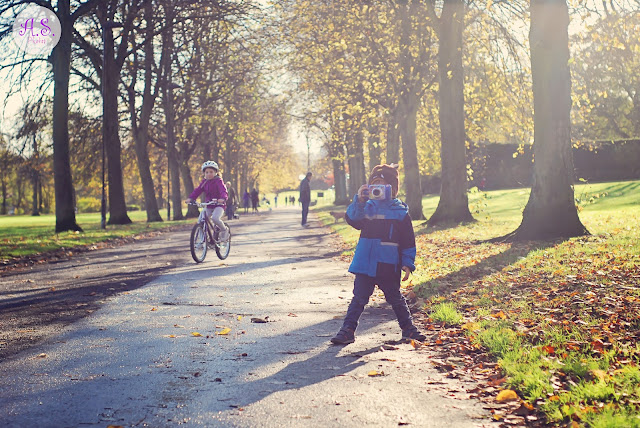 Children's autumn photography