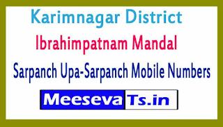 Ibrahimpatnam Mandal Sarpanch Upa-Sarpanch Mobile Numbers List Karimnagar District in Telangana State