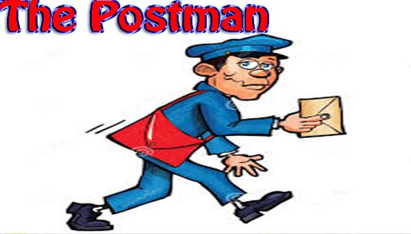 essay on postman for kids