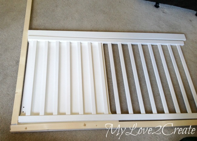 using crib rails to build a dog crate