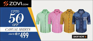 50% off on Zovi's Shirts at Rs 499 only