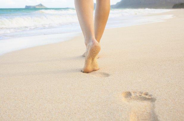 м'якість ніжок після прогулянки по піску