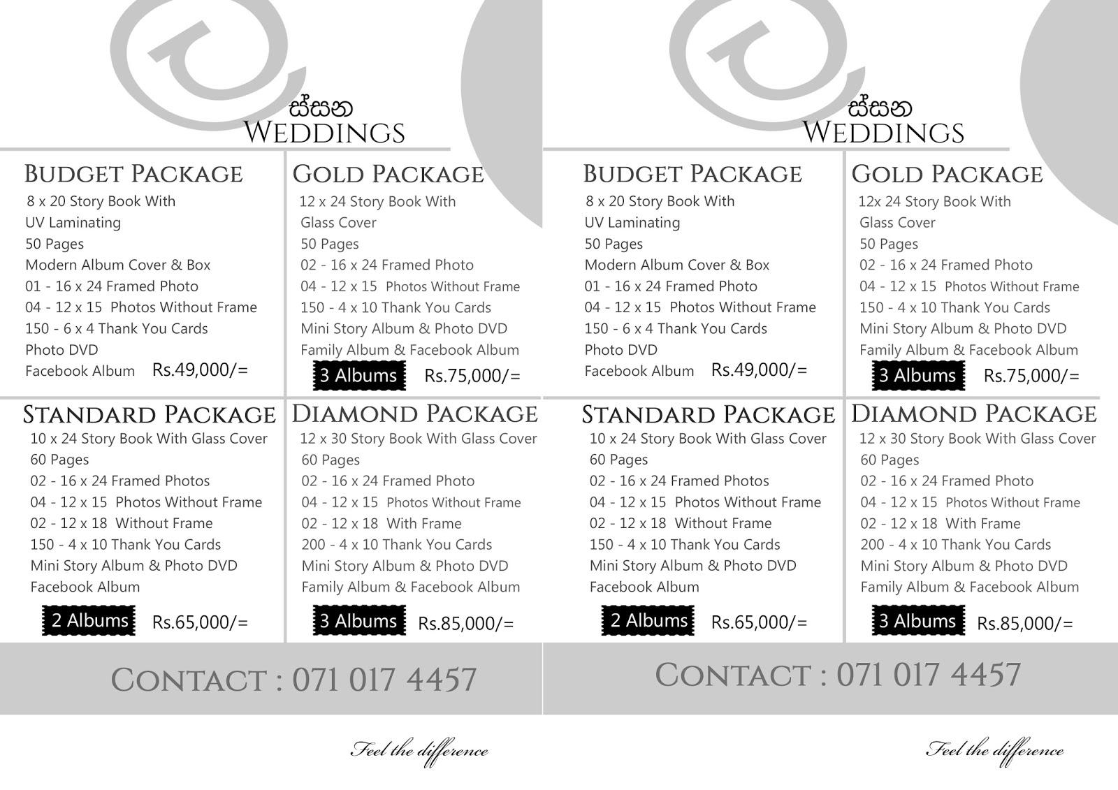 Wedding Photography Packages Sri lanka Lassana