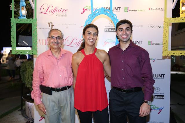 Nadir Godrej and Tanya Dubash with a family member