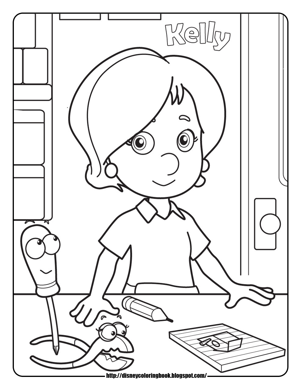 handy manny coloring pages e - photo#12